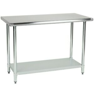 Commercial Stainless Steel Prep Work Table 14x30 Nsf