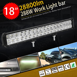 18inch 108w Led Work Light Bar For Off road Truck 4wd Atv Suv Jeep Driving Lamp