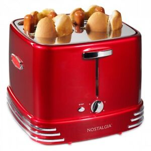Hot Dog Toaster Maker Machine Four Pop Up Bun Electric Retro Style Cooker Tasty