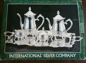 International Silver Company Silverplated 5 Pc Coffee Tea Set 99115023 In Box