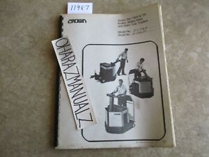 Crown Forklift Tw Twr Tr Walkie Rider Tow 200twr W 24685 Service Manual