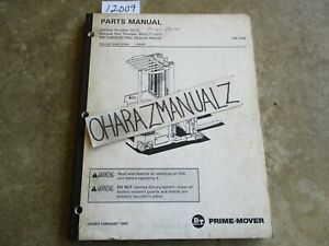 Prime Mover Forklift Rr 34b Electric Reach Truck Parts Manual