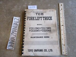 Tcm Forklift Fcg10n2 Fcg15 20 25 Ns Maintenance Guide Manual