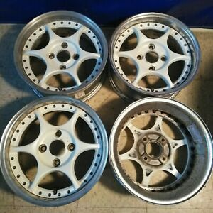 4 15 Advan Ars Rr Yokohama 4x114 3 Jdm Wheels Rims Vip 3pc Rare Authentic Split
