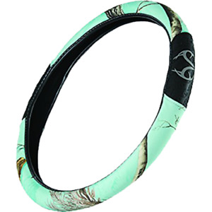 Mint Green Realtree Camo Steering Wheel Cover Camouflage Auto Truck Car New