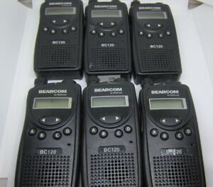 Lot Of 6 Motorola Bearcom Bc120 Uhf Two Way Radio Aah49rcf8aa1ab Uhf
