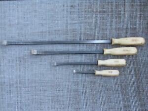 Rare Snap On Spb704 Pearl White Handle 4 Piece Pry Bar Set Prybar Free Shipping
