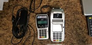 First Data Fd130 Emv Nfc Dial ip Credit Card Machine With Pin Pad