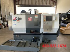 Haas St 20ssy Cnc Lathe Y axis Live Tooling 8 Chuck 2 Bar Capacity 2016