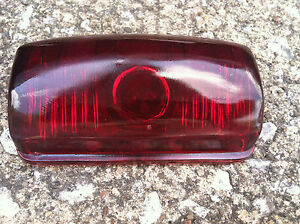 1946 1947 1948 Plymouth red Glass Vintage Tail Light Lens
