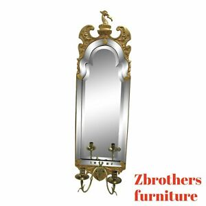 Mirror Fair Gold Gilt French Regency Venetian Hanging Sconce Wall Mirror A