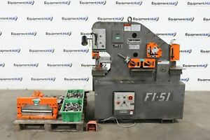 Scotchman Fi 51 F1 5109 14m 51 Ton Hydraulic Ironworker Lots Of Tooling Attac