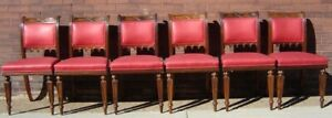 American Gothic Rosewood Dining Chairs Set 6 19th Cent Ex Cond Crawford Riddell