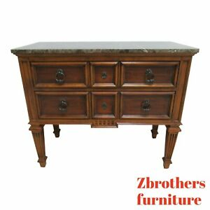 Ethan Allen Tuscany Marble Top Console Credenza Sideboard Bar