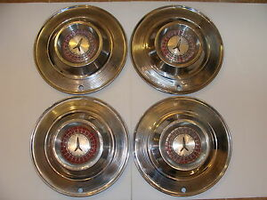 1964 Plymouth Hubcaps Oem 14 Set Of 4 B Body Fury Belvedere Savoy