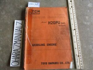 Tcm Nissan Forklift H20pu 240 Parts Manual
