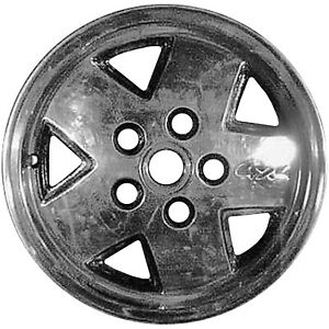Remanufactured 15x7 Alloy Wheel 5 Slot Bright Red With A Machined Face
