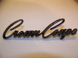 1968 Chrysler Imperial Crown Coupe Emblem Oem 2784958