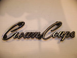 1968 Chrysler Imperial Crown Coupe Emblem Oem 2483445 Stud Style
