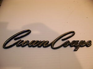 1968 Chrysler Imperial Crown Coupe Emblem Oem 2483445