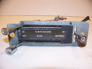 1964 Mercury Heater Controls Oem