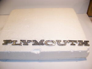 1965 Plymouth Satellite Belvedere Sport Fury Emblems Oem 2528323 Full Set