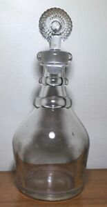 Antique 19th Century Blown Glass Wine Whiskey Decanter Rings 1820