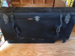 Vintage Antique Car Trunk And Metal Base Packard Buick Ford Chevy Cadillac
