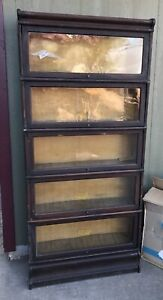 Antique Five Stack Lawyers Bookcase All Original Finish