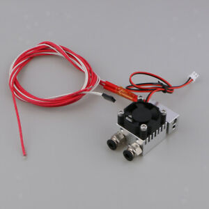 3d Printer Parts Hot End 2 In 1 Out Double Color Extruder 12v 24v With Fan
