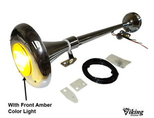 viking Horns Loud 149db Single Trumpet Semi Truck Air Horn With Amber Light
