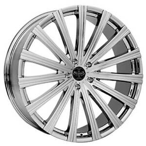 Qty4 24 Versante Wheels Ve230 Chrome Rims Fs