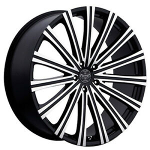Set4 24 Versante Wheels Ve230 Black Machined Rims Fs
