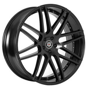 24 Versante Sevizia Wheels Se430 Black Rims Fs