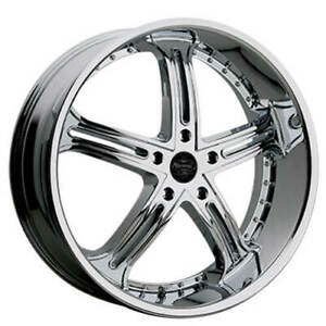 24 Versante Wheels Ve226 Chrome Rims Fs