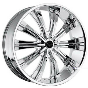 24 Versante Wheels Ve220 Chrome Rims Fs