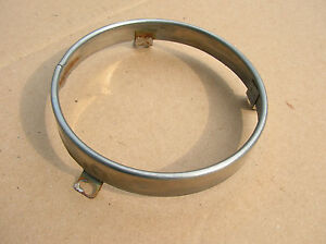 1961 Rambler Classic Headlight Retainer trim Ring good Used 3 tab Type 6 Dia
