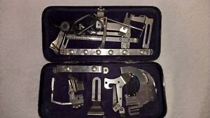 Antique Singer Sewing Machine Attachments Tin Box Manual Refrigerator Magnet
