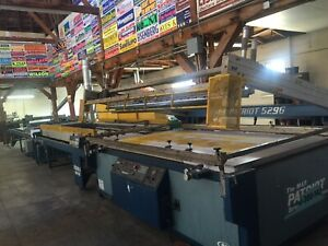 Silk Screen Printing Presses And Ultra Violet Curing Systems Large Format