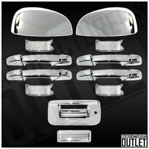 2007 2013 Chevy Silverado 1500 2500 4dr Door Mirror Tailgate W Lock Cover Trim