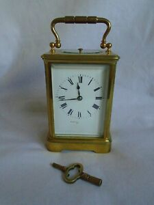 Antique 1880 Stunning Margaine Repeater Carriage Clock Key In Gwo