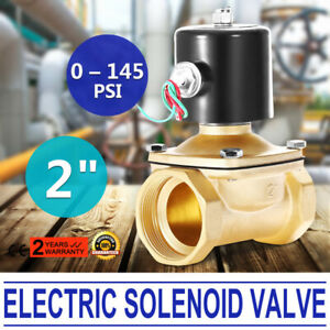 2 Npt Brass Electric Solenoid Valve 5 5 Lead Wire 2 Inch 22w Stainless Steel