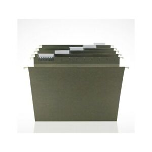 Staples Hanging File Folders 5 tab Letter Size Standard Green 250 bx 179494