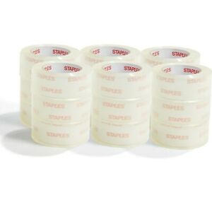 Staples Moving Storage Packing Tape 1 88 X 54 6 Yds Clear 36 rolls 2841806