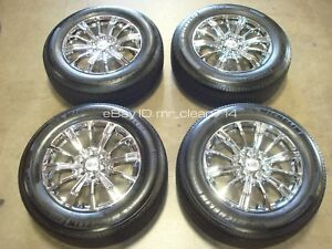 18 2017 18 Cadillac Xt5 Luxury Chrome Wheels Rims Tires Oem Factory 4798