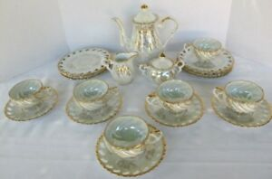 Antique Porcelain Tea Set Pete 22 Pc Beautiful