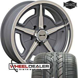 20x8 5 20x10 Gray Ridler 605 Wheels Rims Tires For Ford F100 F 100 Truck