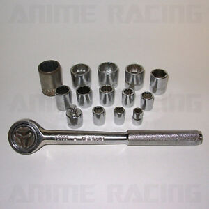 Vintage Herbrand Tools 32000 Round Head Fine Tooth Ratchet Adapter Sockets Set