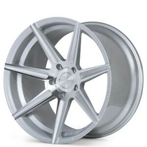 Set4 20 Staggered Ferrada Wheels F8 fr7 Machined Silver Fit Ford Mustang Fs