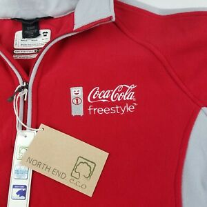 North End Coca-Cola Coke Freestyle 1/2 Zip Sweater Pullover Red Size Medium NWT
